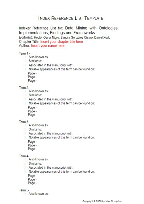 html reference printable 25 free table of contents template word ppt pdf excel
