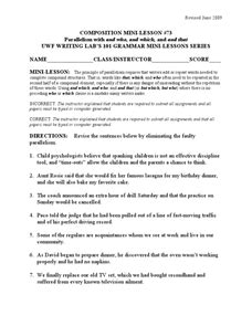 Parallel Structure Worksheet With Answers by Pictures Parallelism Worksheet Getadating