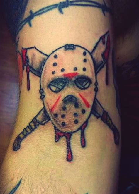 jason tattoo friday the 13th jason s mask by trailerparkzombie