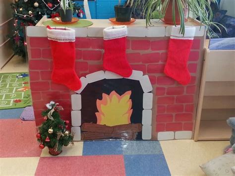 Crafts Made Out Of Construction Paper - fireplace for the children all made out of construction