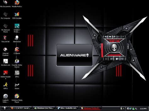 computer pc themes free download my desktop theme fromalienware by talontheblackdragon on