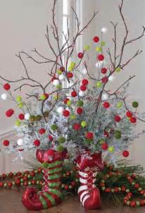 elf boot centerpiece trendy tree blog holiday decor 40 cozy and cheerful homes decorated for a snowy christmas