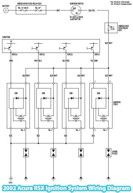 2002 acura rsx ignition system wiring diagram