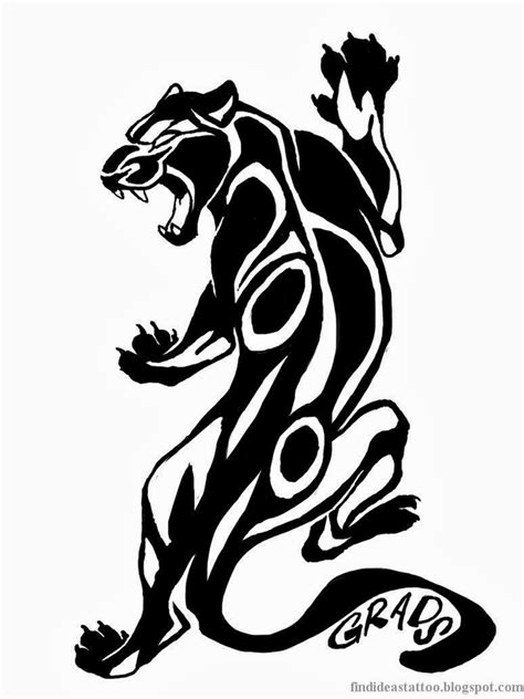 tribal leopard tattoos gallery black and white animal design 2