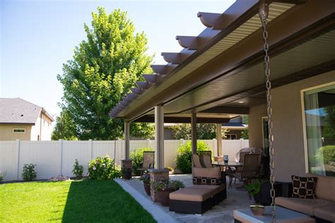 L Shaped Patio by L Shaped Solid Cover Mediterranean Patio Boise By