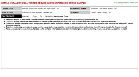 workday tester resumes sles