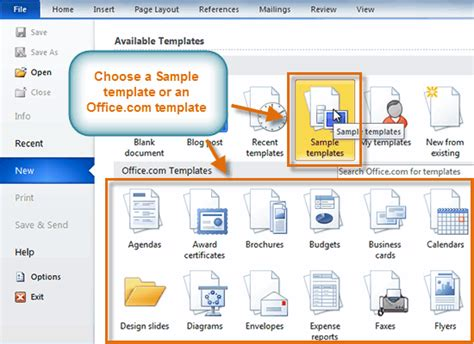 word 2010 using a template lesson 23 windows it