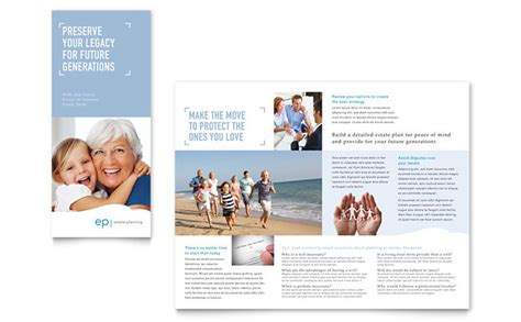 planned giving brochures templates estate planning tri fold brochure template design