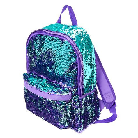 Bags In Turqoise And Violet by Reversible Purple To Turquoise Sequin Backpack S Us