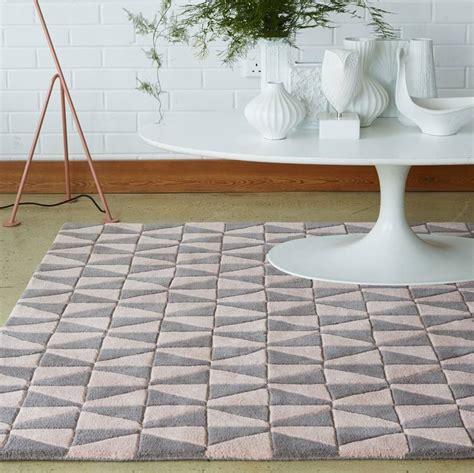 grey geometric rug uk pastel pink geometric rug by i retro notonthehighstreet