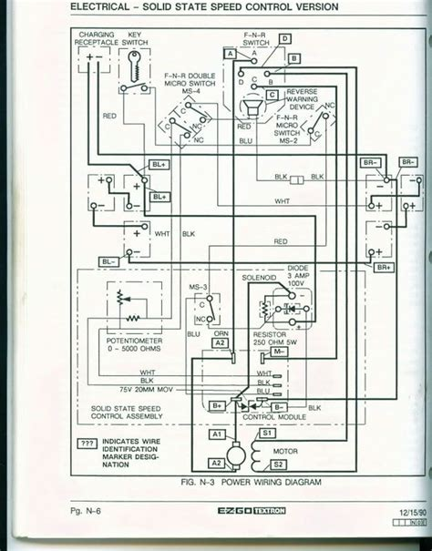 electric golf cart 36 volt ez go st350 wiring diagram for