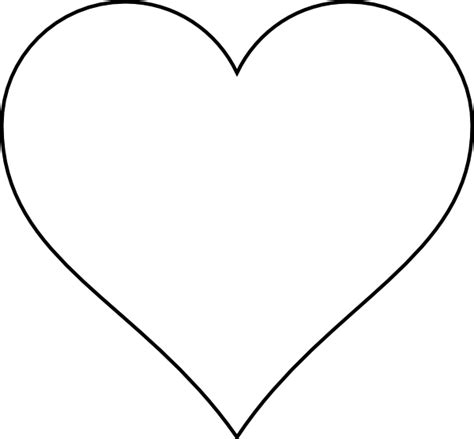 heart pattern free printable large heart stencil clipart best
