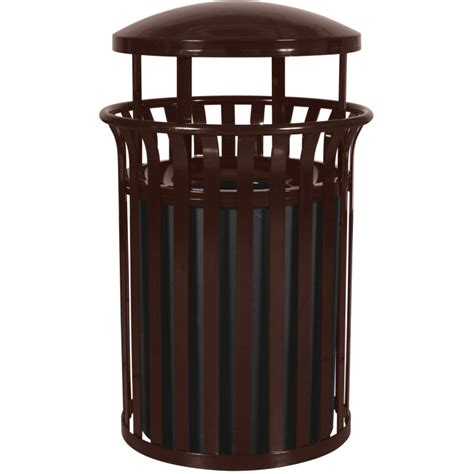 trash can outdoor 33 5 gallon steel garbage container outdoor waste cans