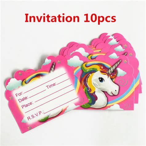 Paket 10 Pcs Balon Pesta Model Singuntuk Ulang Tahun Property Foto 10 pcs lot kartu undangan unicorn kuda anak pasokan pesta