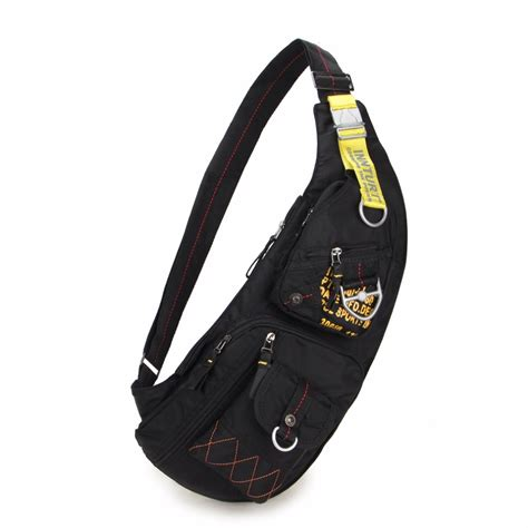 Stradi Black Sling Bag sling bag chest bag shoulder bag messengers bag for black green in running bags