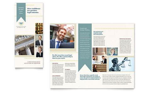 law firm tri fold brochure template design