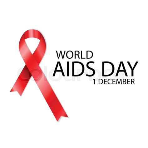 aids awareness color 1 december world aids day poster with text and ribbon