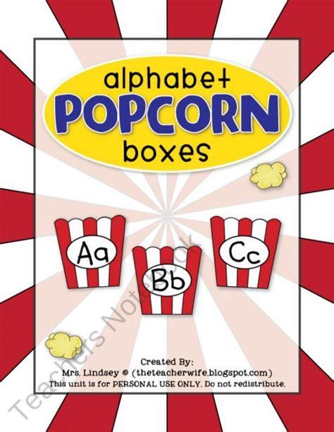 printable popcorn letters free printable alphabet popcorn boxes