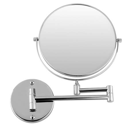bathroom shaving mirrors wall mounted jeyl hot chrome round extending 8 inches cosmetic wall