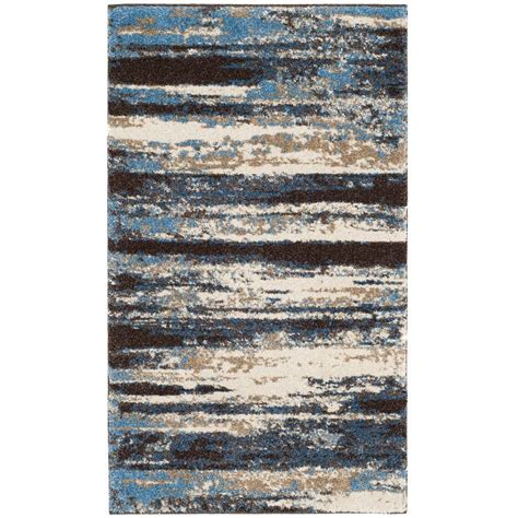 3 foot area rugs safavieh retro blue 3 ft x 5 ft area rug ret2138 1165 3 the home depot