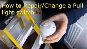 how to repair change a pull cord light switch