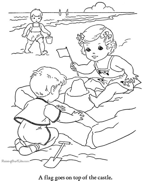 printable coloring pages beach beach sun fun coloring pages