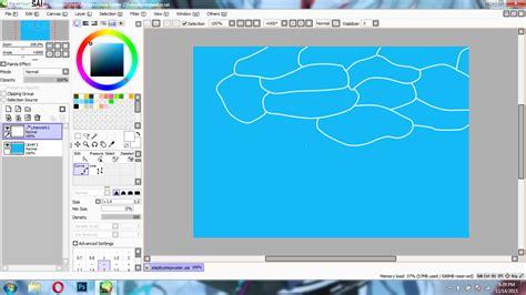 tutorial menggambar di paint tool sai tutorial menggambar air kolam laut di paint tool sai
