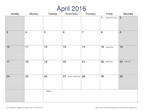 holiday planner 2016 a3 printable april calendar word document calendar template 2018