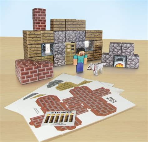 Minecraft Papercraft Shelter Set - minecraft gift ideas the evolution