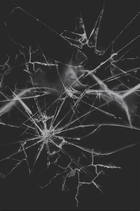 Negro Vidrio Roto Efecto, Negro, Rotura, Material Imagen