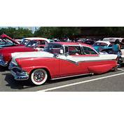1956 Ford Crown Victoria  Red &amp White Lake Pipes