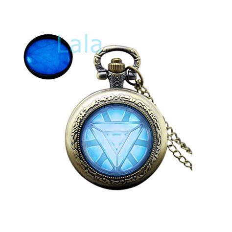 Gw175d Ironman Glow In The iron glowing pocket necklace glow in the arc reactor glowing jewelry