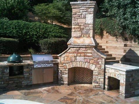 Outdoor Kitchens Natural Stone Outdoor Kitchens Stone Outdoor Kitchen And Fireplace
