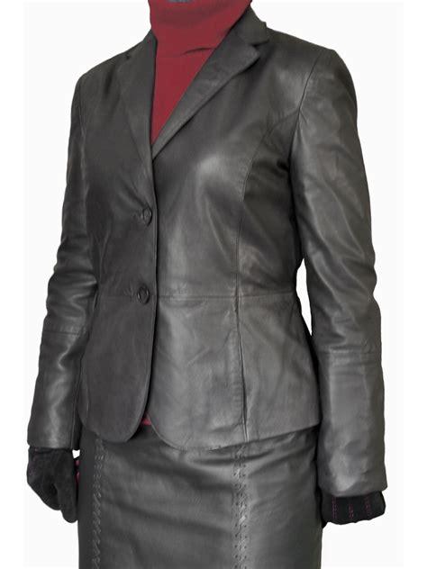 Luxurius Jacket luxury tailored womens leather jacket blazer tout ensemble