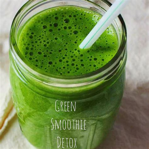 Ricette Smoothie Detox by Green Detox Smoothie Ricetta Vegana