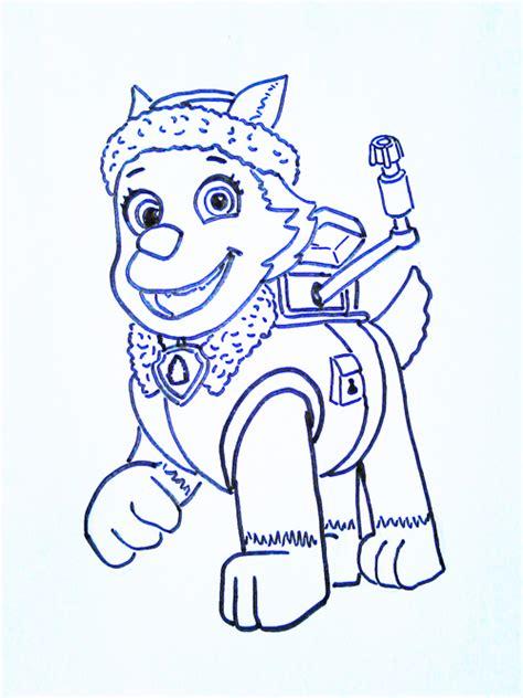 dibujos para pintar patrulla canina dibujos para pintar la patrulla canina dibujos para ni 241 os
