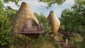 Tree Homes robin hill nesting treehouse development blue forest