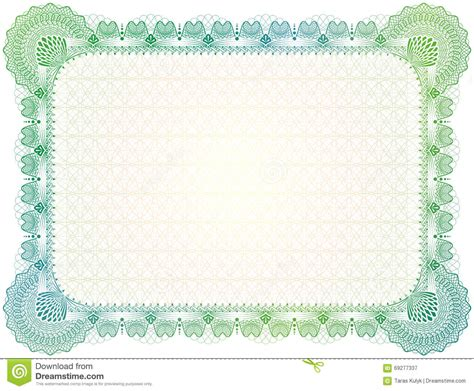 graduation borders templates free certificate template with guilloche elements stock vector