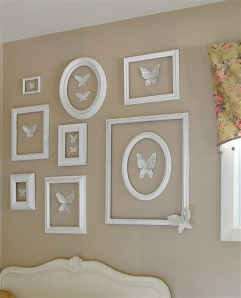 picture frame wall decor decorate walls with empty frames 6 diy ideas tip junkie