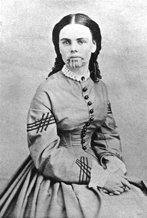 native tattoo history olive oatman was the 1850s girl with a tattoo on her face