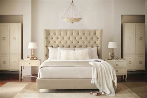 bernhardt salon bed salon king upholstered panel bed with diamond tufting by