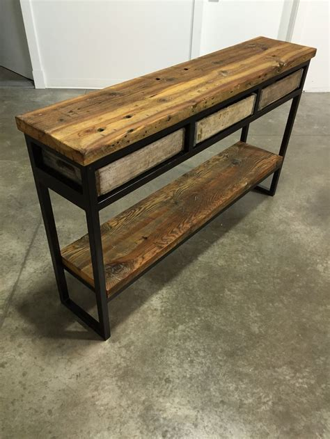 sofa table crate vintage crate buffet sofa table reclaimed montana barn