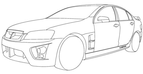 coloring pictures of holden cars holden hsv clubsport coloring page free printable