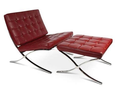 barcelona chair and ottoman barcelona chair and ottoman red