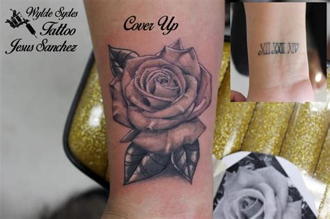 Tattoo Cover Up Numbers | rose cover up of some roman numerals by jesus sanchez yelp