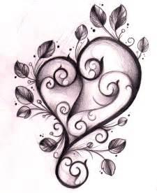 Winged heart n key tattoo design photo 1