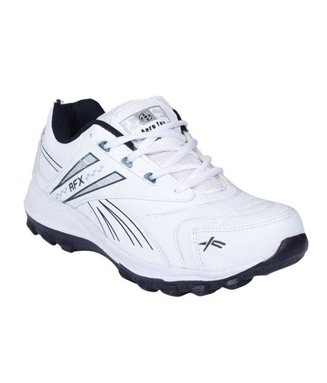aerofax white synthetic leather sport shoes price in india