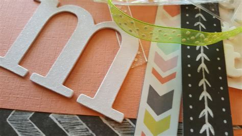 Paper Craft Supplies - diy personalized monogrammed luggage tag my thrifty house