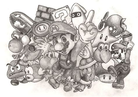 super mario drawing by jojomalfoy on deviantart