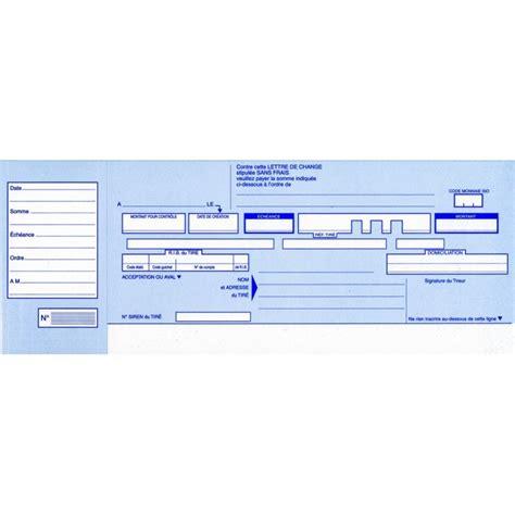 Présentation Lettre De Change Carnet De Traites Normalis 233 Es Lettre De Change Elve 139 Arc Registres